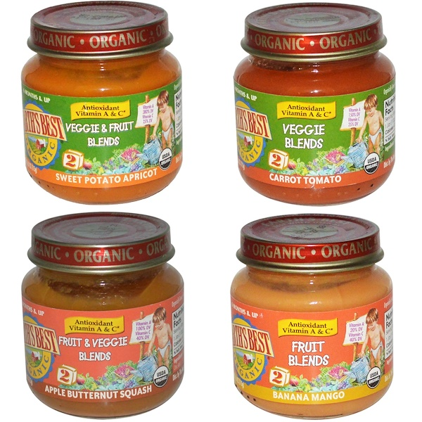 Earth's Best, Organic Baby Food, Antioxidant Blends Variety Pack, 12 Jars, 4 oz (113 g) Each (Discontinued Item)