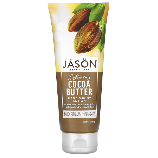 Jason Natural, Hand & Body Lotion, Softening Cocoa Butter, 8 oz (227 g)