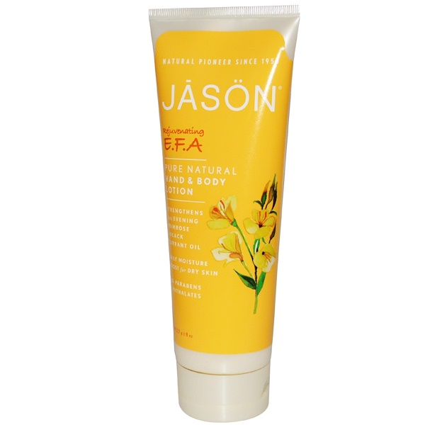 Jason Natural, Hand & Body Lotion, Rejuvenating E.F.A., 8 oz (227 g) (Discontinued Item)