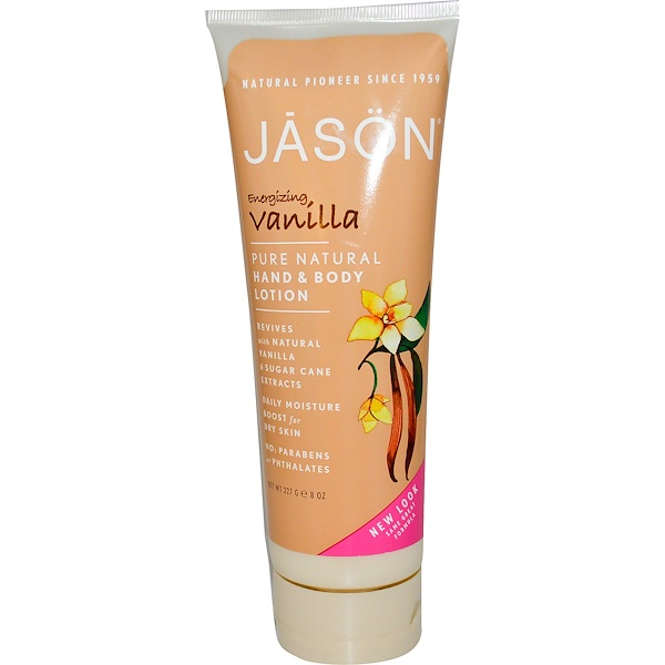 Jason Natural, Hand & Body Lotion, Energizing Vanilla, 8 oz (227 g) (Discontinued Item)
