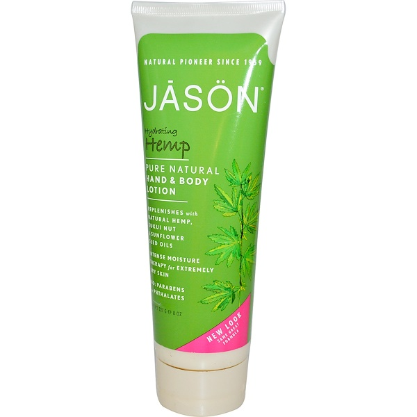 Jason Natural, Hand & Body Lotion, Hydrating Hemp, 8 oz (227 g) (Discontinued Item)