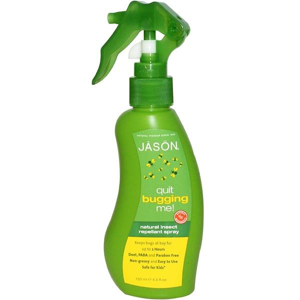 Jason Natural, 天然驅蟲劑噴霧,4、5液量盎司(133毫升)