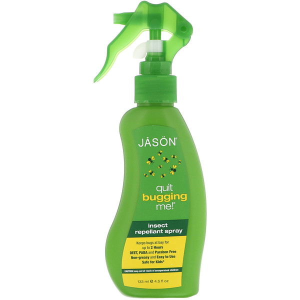 Jason Natural, Quit Bugging Me!, Insect Repellant Spray, 4.5 fl oz (133 ml)