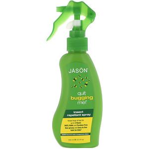 Джэйсон Нэчуралс, Quit Bugging Me!, Insect Repellant Spray, 4.5 fl oz (133 ml) отзывы