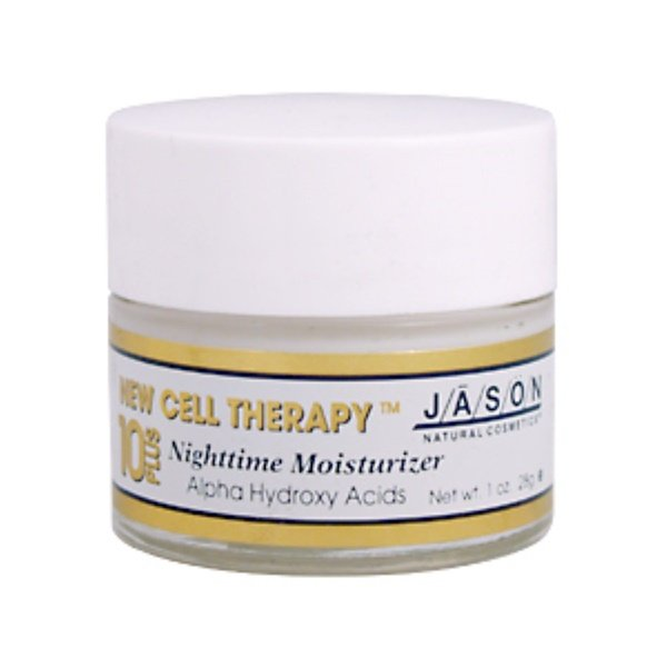 Jason Natural, 10 Plus New Cell Therapy, Nighttime Moisturizer, 1 oz (28 g) (Discontinued Item)