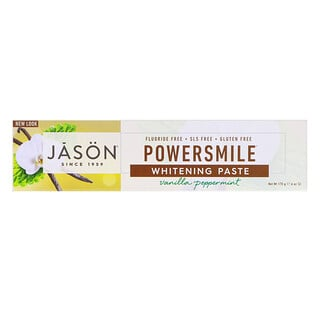 Jason Natural, Powersmile, dentifrice blanchissant et anti-tarte, 170 g