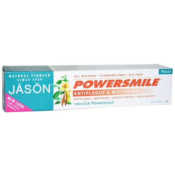Jason Natural, Powersmile, Antiplaque & Whitening Toothpaste, Vanilla PowerMint, 6 oz (170 g)