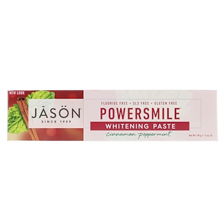 Jason Natural, Powersmile Whitening Paste, Cinnamon Peppermint, 6 oz (170 g)
