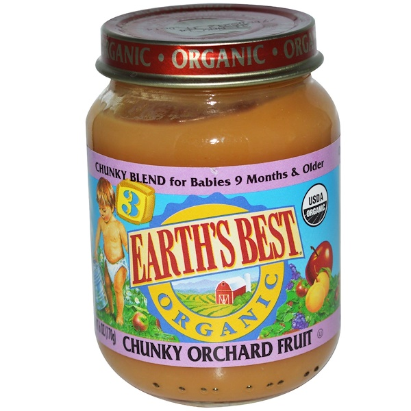 Earth's Best, Chunky Orchard Fruit, Baby Food, 6 oz (170 g) (Discontinued Item)
