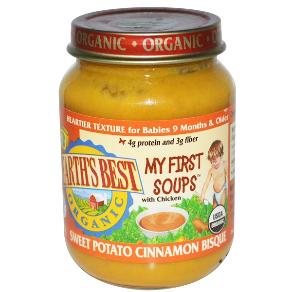 Earth's Best, Organic, My First Soups, Sweet Potato Cinnamon Bisque, 6 oz (170 g) (Discontinued Item)