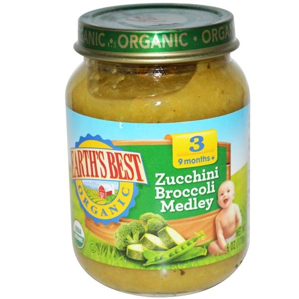 Earth's Best, Organic Baby Food, Zucchini Broccoli Medley, 6 oz (170 g) (Discontinued Item)