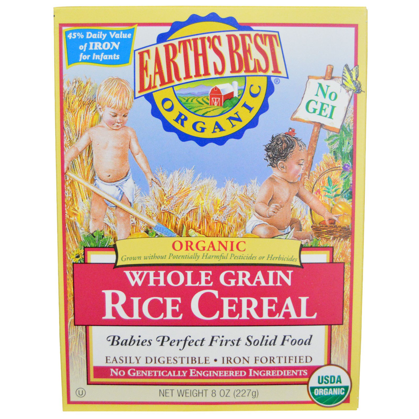 Earth's Best, Organic, Whole Grain Rice Cereal, 8 Oz (227