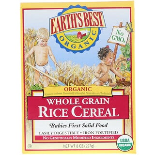 Earth's Best, Cereal Orgánico Arroz Integral, 8 oz (227 g)