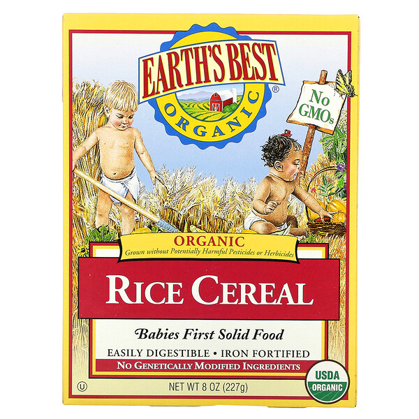 Organic, Rice Cereal, 8 oz (227 g)