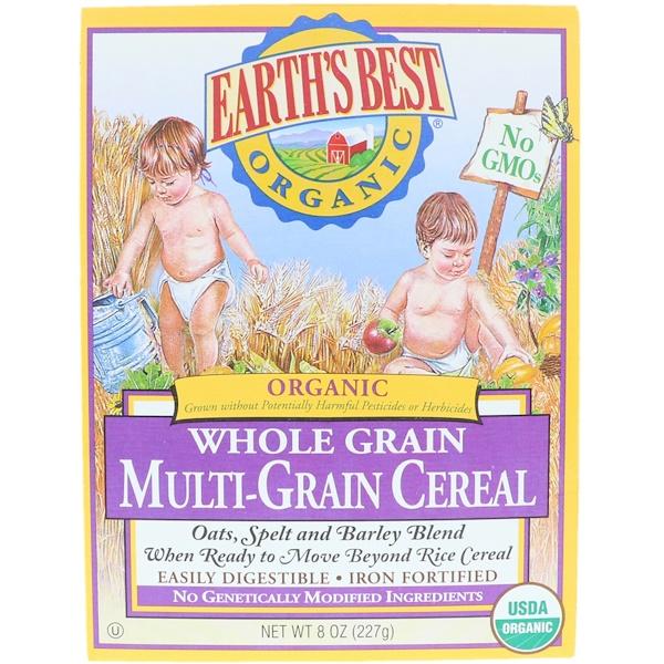 Earth's Best, Earth's Best, ジェイソン, Organic Whole Grain Multi-Grain Cereal, 8 oz (227 g)