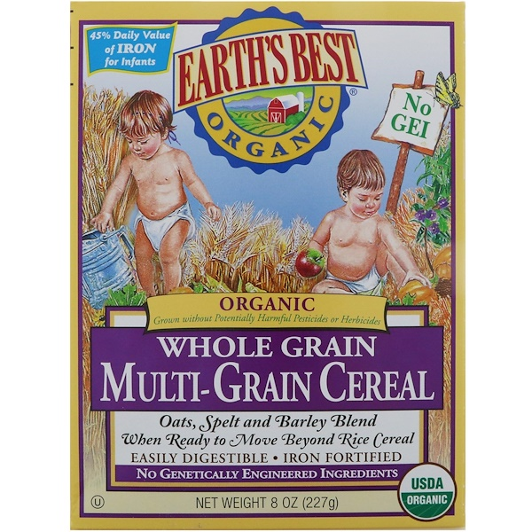 Earth's Best, Earth's Best, ジェイソン, Organic Whole Grain Multi-Grain Cereal, 8 oz (227 g)