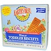 Earth's Best, Organic Toddler Biscuits, Wheat, 12 Biscuits, 4.6 oz (130 g) (Discontinued Item)
