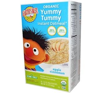 Ёртс Бест, Organic Yummy Tummy Instant Oatmeal, Apple Cinnamon, 10 Pouches, 1.51 oz (43 g) Each отзывы
