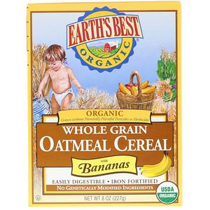 Ёртс Бест, Organic Whole Grain Oatmeal Cereal with Bananas, 8 oz (227 g) отзывы
