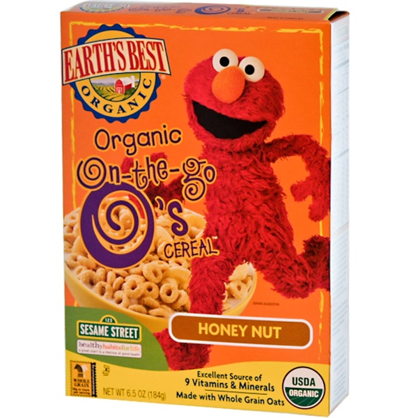 Earth's Best, Organic On-the-Go O's Cereal, Honey Nut, 6.5 oz (184 g) (Discontinued Item)