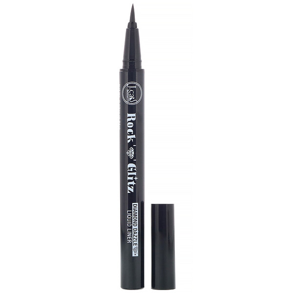 Rock n Glitz, Diamond Dazzle Liquid Liner, RG108 Tuxedo Mask Matte Black, 0.03 oz (0.85 g)