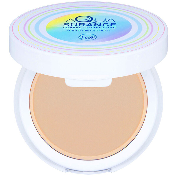 J.Cat Beauty, Aquasurance Compact Foundation, ACF102 Natural, 0.31 oz (9 g)