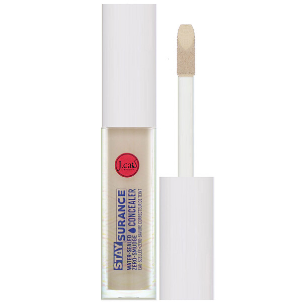 Staysurance, Water-Sealed Zero-Smudge Concealer, SHC107 Custard,  0.16 fl oz (4.8 ml)