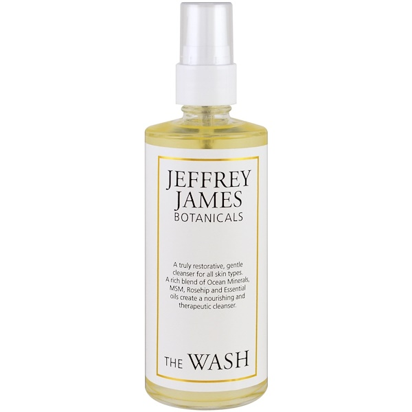 Jeffrey James Botanicals, The Wash, Gentle Purifying Cleanse , 4.0 oz (118 ml) (Discontinued Item)