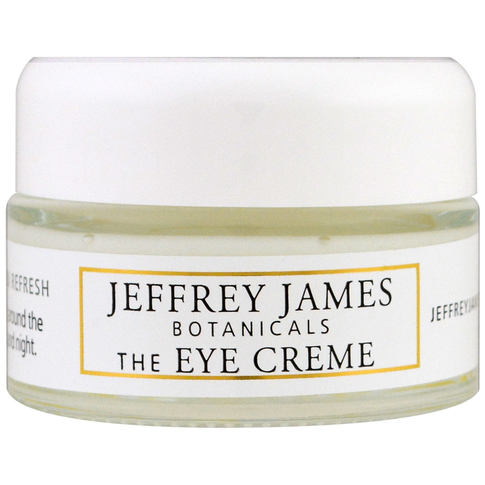 Jeffrey James Botanicals, Крем для кожи вокруг глаз, Яркость, легкость, свежесть, 0,5 унции (15 мл)