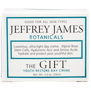 Jeffrey James Botanicals, The Gift, Youth Restore Day Creme, 2.0 oz (59 ml)
