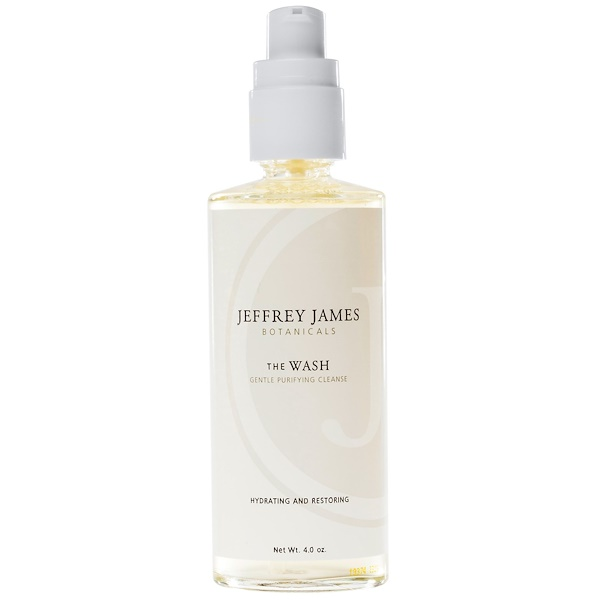 Jeffrey James Botanicals, The Wash, Gentle Purifying Cleanse, 4.0 oz (118 ml) (Discontinued Item)