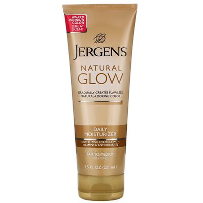Купить Jergens Увлажняющее средство Natural Glow для ежедневного ухода, оттенок Fair to Medium (221мл)