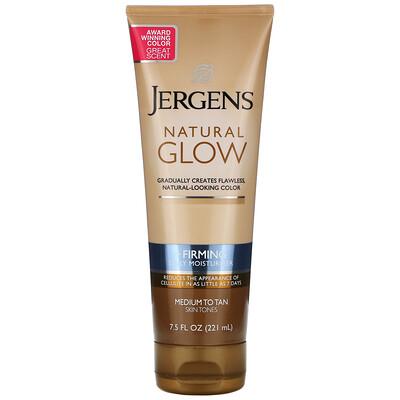 Купить Jergens Укрепляющее увлажняющее средство Natural Glow для ежедневного ухода, Firming Daily Moisturizer, оттенок Medium to Tan (221мл)