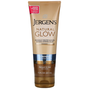 Jergens, Natural Glow, Firming Daily Moisturizer, Medium to Tan, 7.5 fl oz (221 ml) отзывы