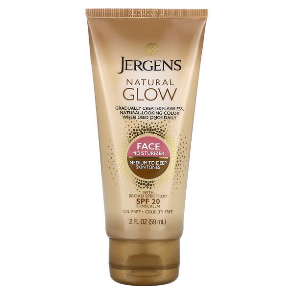 NaturalGlow, Humectante facial, FPS20, Para tonos de piel de medios a oscuros, 59ml (2oz.líq.)