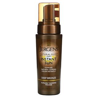 Jergens, 自然之光,及时美免晒黑摩丝,适合深棕色肤色,6 液量盎司(177 毫升)
