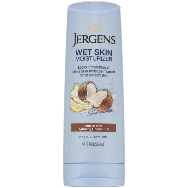 Jergens, Wet Skin Moisturizer, Coconut Oil, 10 fl oz (295 ml)