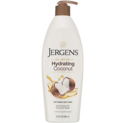 Купить Jergens Hydrating Coconut, увлажняющий лосьон с маслом кокоса, 496мл