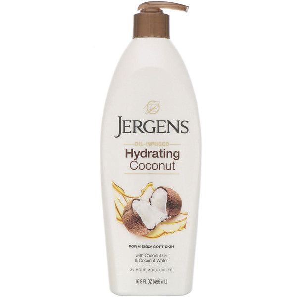 Jergens, Hydrating Coconut Moisturizer, Oil-Infused, 16.8 fl oz (496 ml)