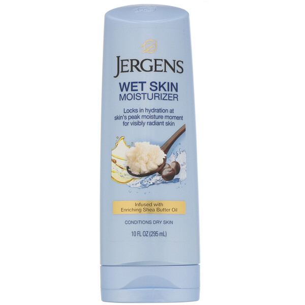 Jergens, Wet Skin Moisturizer, Shea Butter Oil, 10 fl oz (295 ml)