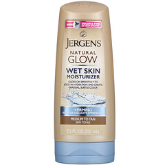 Jergens, 自然之光,緊雅水潤保濕乳,適合中等至棕褐色膚色,7.5 液量盎司(221 毫升)