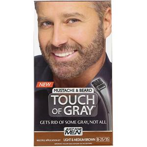 Just for Men, Touch of Gray, Mustache & Beard, Light & Medium Brown B-25/35, 1 Multiple Application Kit отзывы