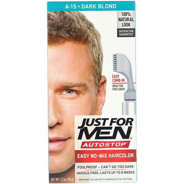 Autostop Men's Hair Color, Dark Blond A-15, 1.2 oz (35 g)