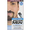 Just for Men, Moustache & Barbe, Gel coloré à brosser, Châtain foncé intense M-46, 2 x 14 g