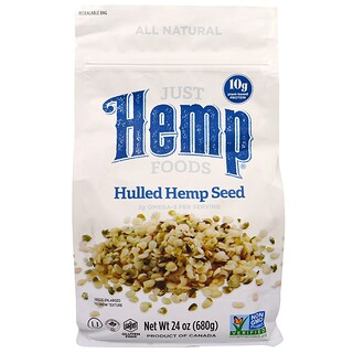 Just Hemp Foods, Semillas peladas de cáñamo, 24 oz (680 g)