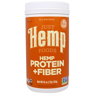 Just Hemp Foods, Hemp Protein + Fiber, 16 oz (454 g)