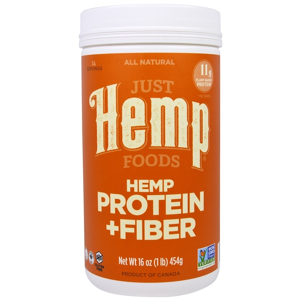 Just Hemp Foods, Hemp Protein + Fiber, 16 oz (454 g) (Discontinued Item)