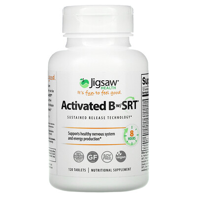 Jigsaw Health Activated Bw/SRT, 120 Tablets