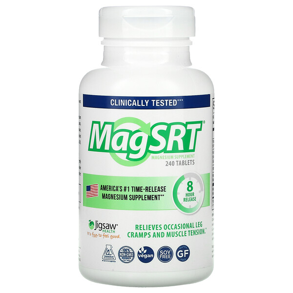MagSRT, Time-Release Magnesium, 240 Tablets