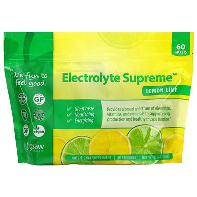 Jigsaw Health Electrolyte Supreme, Lemon-Lime, 60 Packets, 12.5 oz (354 g)